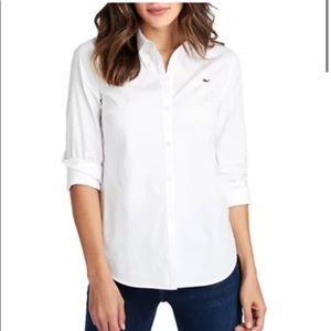 NWT vineyard vines white buttondown collared shirt